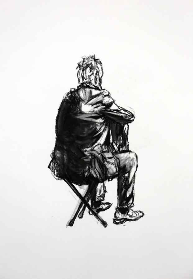 <span class=&#34;title&#34;><em>Seated Figure 4</em>, 2015</span>